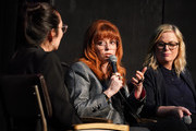 "(L-R) Rebecca Sun, Natasha Lyonne and Amy Poehler participate in Universal Television's ""Russian Doll"" FYC panel at UCB Sunset Theater on June 03, 2019 in Los Angeles, California."