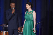 David Oyelowo and Jessica Oyelowo speak during the Unlikely Heroes 6th Annual Recognizing Heroes Charity Benefit at The Ritz-Carlton, Dallas on October 27, 2018 in Dallas, Texas.