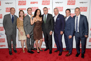 (L-R) Dan Mannix, Abby McKenna, Dr. David Colbert, Collette V. Smith, Scott Smith, Nick Wood, Matt Grandis, and Paul Caccamo attend the Up2Us Sports 2019 Gala to celebrate The Healing Power of Sports on May 29, 2019 in New York City.