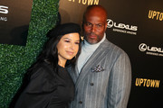 (R) Chris Spencer and his wife Vanessa Rodriguez attends Uptown Honors Hollywood Pre-Oscar Gala - Arrivals at City Market Social House on February 20, 2019 in Los Angeles, California.