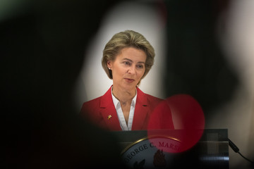 Ursula Von Der Leyen U.S. Defense Secretary Mattis Attends Marshall Plan Celebration