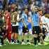 Luis Suarez Photos - Luis Suarez of Uruguay celebrates victory with team mates during the 2018 FIFA World Cup Russia group A match between Uruguay and Saudi Arabia at Rostov Arena on June 20, 2018 in Rostov-on-Don, Russia. - Uruguay Vs. Saudi Arabia: Group A - 2018 FIFA World Cup Russia