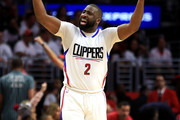 Raymond Felton #2 of the Los Angeles Clippers motions to the crowd during the second half of Game Seven of the Western Conference Quarterfinals against the Utah Jazz at Staples Center at Staples Center on April 30, 2017 in Los Angeles, California.  NOTE TO USER: User expressly acknowledges and agrees that, by downloading and or using this photograph, User is consenting to the terms and conditions of the Getty Images License Agreement.