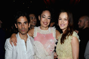 James Kaliardos,Cecilia Dean and Leighton Meester attend V Magazine's New York issue celebration at The Standard on September 13, 2010 in New York City.
