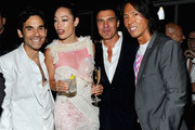 James Kaliardos, Cecilia Dean, Andre Balazs and Stephen Gan attend V Magazine's New York issue celebration at The Standard on September 13, 2010 in New York City.