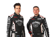 Rick Kelly and David Russell of Nissan Motorsport pose during the 2015 V8 Supercars Enduro pairing portrait session at Sandown International Motor Raceway on September 10, 2015 in Melbourne, Australia.