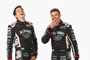 Rick Kelly and David Russell of Nissan Motorsport laugh during the 2015 V8 Supercars Enduro pairing portrait session at Sandown International Motor Raceway on September 10, 2015 in Melbourne, Australia.