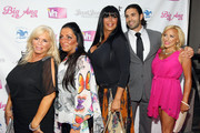 "(L-R) Linda Torres, Janine DeTorre, Angela ""Big Ang"" Raiola, Frank Russo and Jennifer Patafio attend the VH1 Big Ang Party at Trattoria Dopo Teatro on July 8, 2012 in New York City."