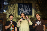 "(L-R) ""That Metal Show"" hosts Don Jamieson, Eddie Trunk and Jim Florentine attend the taping of VH1 Classic Presents ""That Metal Show: Anvil Special"" at Hard Rock Cafe, Times Square on September 28, 2009 in New York City."
