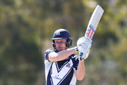 Cameron White of Victoria bats  during the JLT One Day Cup between Victoria and Western Australia at Junction Oval on September 26, 2018 in Melbourne, Australia.