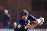 Cameron White of Victoria bats during the JLT One Day Cup match between Victoria and South Australia at Junction Oval on September 30, 2018 in Melbourne, Australia.