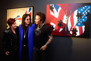 """(L-R) Sharon Osbourne, Ozzy Osbourne and Billy Morrison attend an VIP Opening Reception For """"Dis-Ease""""  An Evening Of Fine Art With Billy Morrison at Mouche Gallery on September 2, 2015 in Beverly Hills, California."""