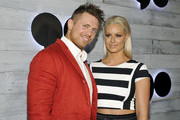 """Professional wrestler Michael """"The Miz"""" Mizanin (L) and model Maryse Ouellet attend the VIP sneak peek of the go90 Social Entertainment Platform at the Wallis Annenberg Center for the Performing Arts on September 24, 2015 in Los Angeles, California."""