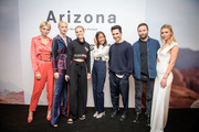 Luisa Hartema, Franziska Knuppe, Kim Hnizdo, Rabea Schif, Fashion designers Jack McCollough, Lazaro Hernandez and Scarlett Gartmann (L-R) attend the VOGUE Germany & Proenza Schouler  Host Arizona fragrance launch event on April 26, 2018 in Frankfurt am Main, Germany.