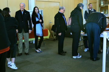 Ashley Biden VP Biden Votes In The Midterm Elections