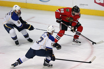 Valdimir Sobotka St Louis Blues v Chicago Blackhawks