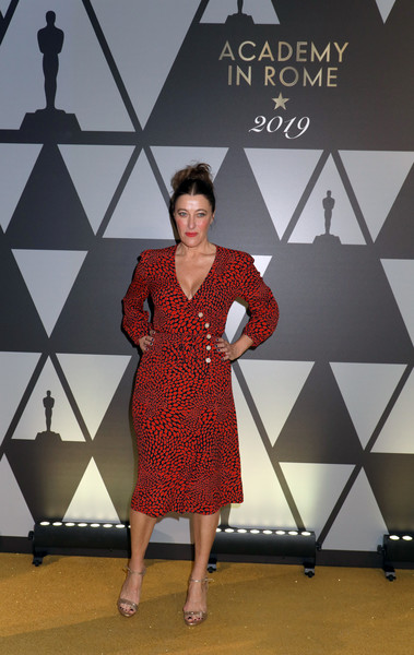 Academy Of Motion Picture, Arts And Sciences, And Istituto Luce - Cinecittà Event [clothing,red,fashion,fashion design,dress,design,footwear,fashion model,flooring,photography,istituto luce,valeria bruni tedeschi attends academy of motion picture,academy of motion picture,cinecitt\u00e0 event,italy,rome,cinecitt\u00e3 event at palazzo barberini]