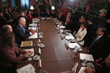 Valerie Jarrett Biden Meets With Cabinet Members To Discuss Job Skills And Training