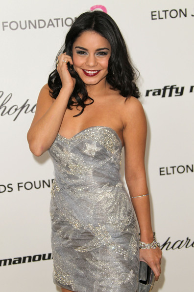 Vanessa Hudgens Actress Vanessa Hudgens arrives at the 19th Annual Elton John AIDS Foundation's Oscar viewing party held at the Pacific Design Center on February 27, 2011 in West Hollywood, California.