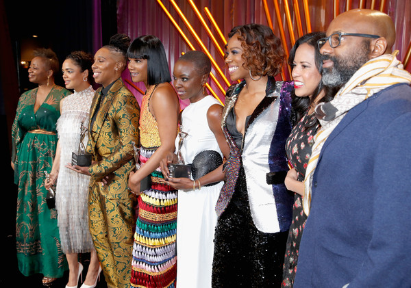 2018 Essence Black Women In Hollywood Oscars Luncheon - Show [essence black women in hollywood oscars luncheon - show,yvonne orji,editor-in-chief,president,honorees,chairperson,founder,tiffany haddish,essence,l-r,event,community,ceremony,wedding reception,marriage,adaptation,party,sari,tradition,wedding]