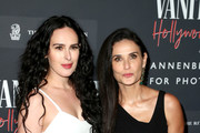 (L-R) Rumer Willis and Demi Moore as the Vanity Fair And Annenberg Space For Photography Celebrate The Opening Of Vanity Fair: Hollywood Calling, Sponsored By The Ritz-Carlton at Annenberg Space For Photography on February 04, 2020 in Century City, California.