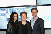 (L-R) SunHee Grinnell, Caryl Stern, and Jason Morgan attend Vanity Fair Campaign Hollywood Social Club - Beauty Moment: Giorgio Armani Beauty Happy Hour Toasting UNICEF on February 19, 2015 in Los Angeles, California.