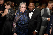 Actress Kathy Bates and director John Singleton at Vanity Fair And FX's Annual Primetime Emmy Nominations Party on September 17, 2016 in Beverly Hills, California.