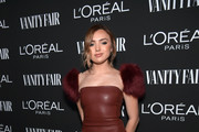 Peyton List is seen as Vanity Fair and L'Oréal Paris Celebrate New Hollywood on February 19, 2019 in Los Angeles, California.