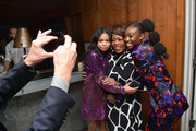 (L-R) Navia Robinson, Alfre Woodard and Shahadi Wright Joseph attend Vanity Fair and Lancôme Toast Women in Hollywood on February 06, 2020 in Los Angeles, California.