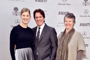 """(L-R) Actress Rosamund Pike, honoree Rob Marshall and artistic director Helen du Toit attend Variety's Creative Impact Awards and """"10 Directors To Watch"""" brunch presented by Mercedes Benz at Parker Palm Springs on January 4, 2015 in Palm Springs, California."""