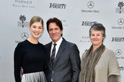 """(L-R) Actress Rosamund Pike, director Rob Marshall and artistic director Helen du Toit attend Variety's Creative Impact Awards and """"10 Directors To Watch"""" brunch presented by Mercedes Benz at Parker Palm Springs on January 4, 2015 in Palm Springs, California."""