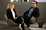 Actors Carrie Brownstein (L) and Fred Armisen speak during Variety Studio Actors on Actors presented by Autograph Collection Hotels on March 29, 2015 in Los Angeles, California.