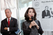 """New York City Mayor Michael Bloomberg and Commissioner of the New York City's Mayors Office of Media and Entertainment Catherine Oliver (R) speak at Variety's """"New York: Capital Of Content"""" during the 2013 Tribeca Film Festival on April 24, 2013 in New York City."""