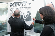 """New York City Mayor Michael Bloomberg and Commissioner of the New York City's Mayors Office of Media and Entertainment Catherine Oliver (R) attend Variety's """"New York: Capital Of Content"""" during the 2013 Tribeca Film Festival on April 24, 2013 in New York City."""