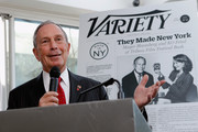 """New York City Mayor Michael Bloomberg speaks at Variety's """"New York: Capital Of Content"""" during the 2013 Tribeca Film Festival on April 24, 2013 in New York City."""