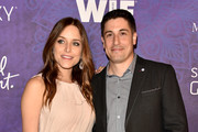 Actress Jenny Mollen and actor Jason Biggs attend Variety and Women in Film Annual Pre-Emmy Celebration at Gracias Madre on August 23, 2014 in West Hollywood, California.