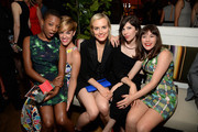 (L-R) Actresses Samira Wiley, guest, Taylor Schilling, Carrie Brownstein, and Yael Stone attend Variety and Women in Film Emmy Nominee Celebration powered by Samsung Galaxy on August 23, 2014 in West Hollywood, California.