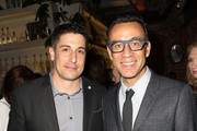Actors Jason Biggs (L) and Fred Armisen attend Variety and Women in Film Emmy Nominee Celebration powered by Samsung Galaxy on August 23, 2014 in West Hollywood, California.  (Photo by Jonathan Leibson/Getty Images for Variety)Fred Armisen