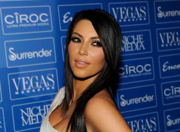 "Kim Kardashian Television personality Kim Kardashian arrives at the seventh anniversary party for ""Vegas Magazine"" at the Surrender Nightclub at Encore Las Vegas June 19, 2010 in Las Vegas, Nevada."