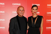 Ferzan Ozpetek and Catrinel Menghia are seen during Venetika projection at Campari Floating Cinema on September 03, 2019 in Venice, Italy.
