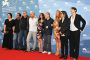 "(L-R) Jury members Marina Abramovic, Matteo Garrone, Ari Folman, Pablo Trapero, Laetitia Casta, Jury President Michael Mann, Jury members Samantha Morton, Peter Ho-Sun Chan and Ursula Meier attend the ""Venezia 69"" Jury Photocall during the during the 69th Venice International Film Festival at Palazzo del Casino on August 29, 2012 in Venice, Italy."