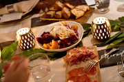 A view of food served during an immersive experience hosted by American Express Travel and Venus Williams, at the Greenwich Hotel on November 7, 2019, in New York City.