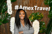 Venus Williams hosts an immersive experience presented by American Express Travel at the Greenwich Hotel on November 7, 2019, in New York City.