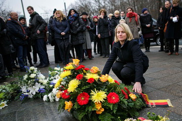 Verena Bentele Berlin Commemorates Holocaust Remembrance Day