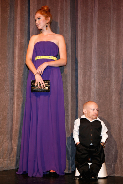 "Verne Troyer and Lily Cole Photos Photos - ""The ..."
