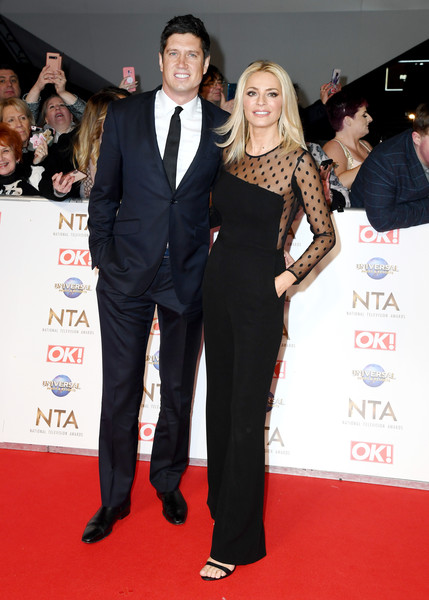 National Television Awards 2020 - Red Carpet Arrivals [red carpet,carpet,suit,event,premiere,flooring,formal wear,tuxedo,dress,award ceremony,vernon kay,tess daly,england,london,the o2 arena,red carpet arrivals,national television awards,tess daly,vernon kay,phillip schofield,michelle visage,this morning,red carpet,celebrity,strictly come dancing,national television awards,television presenter]