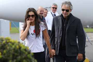 Veronica Berti Andrea Bocelli Arrives In New Zealand
