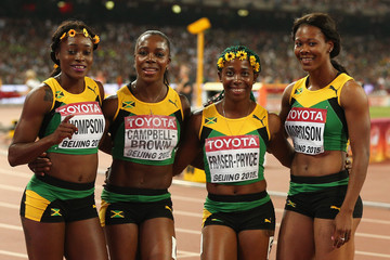 ¿Cuánto mide Shelly-Ann Fraser Pryce? - Altura - Real height Veronica+Campbell+Brown+Shelly+Ann+Fraser+QEPnpfqbxPDm