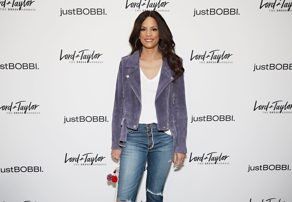 Lord & Taylor And Bobbi Brown Celebrate The Launch Of justBOBBI Concept Shop [clothing,jeans,denim,fashion,outerwear,shoulder,joint,jacket,fashion design,textile,bobbi brown,veronica webb,justbobbi,justbobbi concept shop,concept shop,new york city,lord taylor,launch,launch]