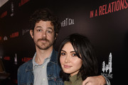 "Andre Hyland and Daniella Pineda attend the premiere for ""In A Relationship"" presented by Vertical Entertainment at The London Hotel on October 30, 2018 in West Hollywood, California."